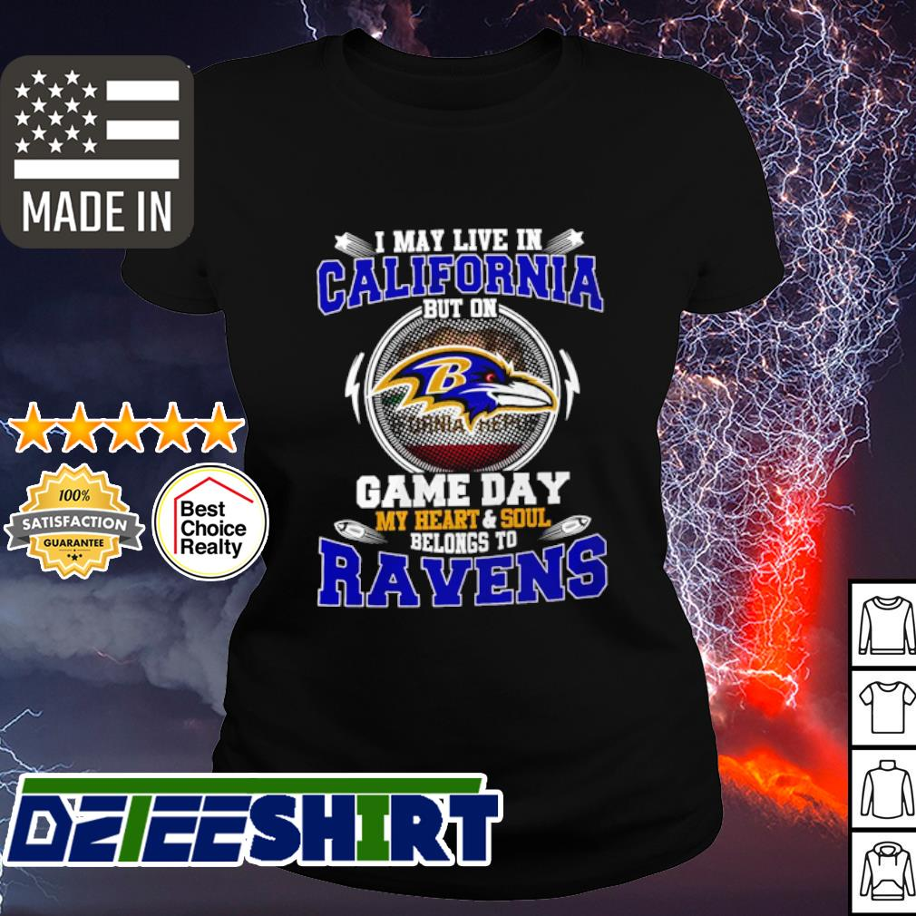 I May Live In Pennsylvania Game Day Me Heart And Soul Belong To Ravens Shirt ladies tee