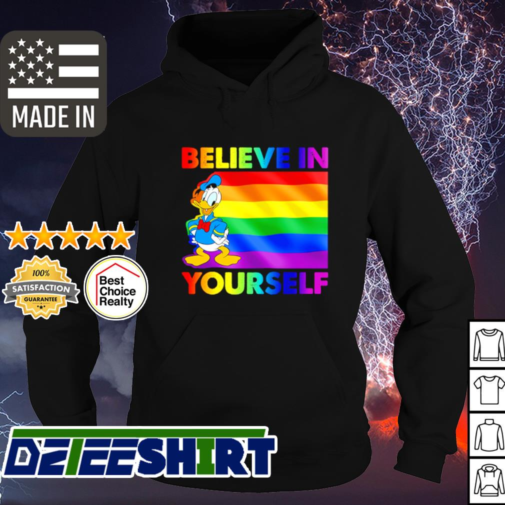 LGBT Donald Duck believe in yourself s hoodie