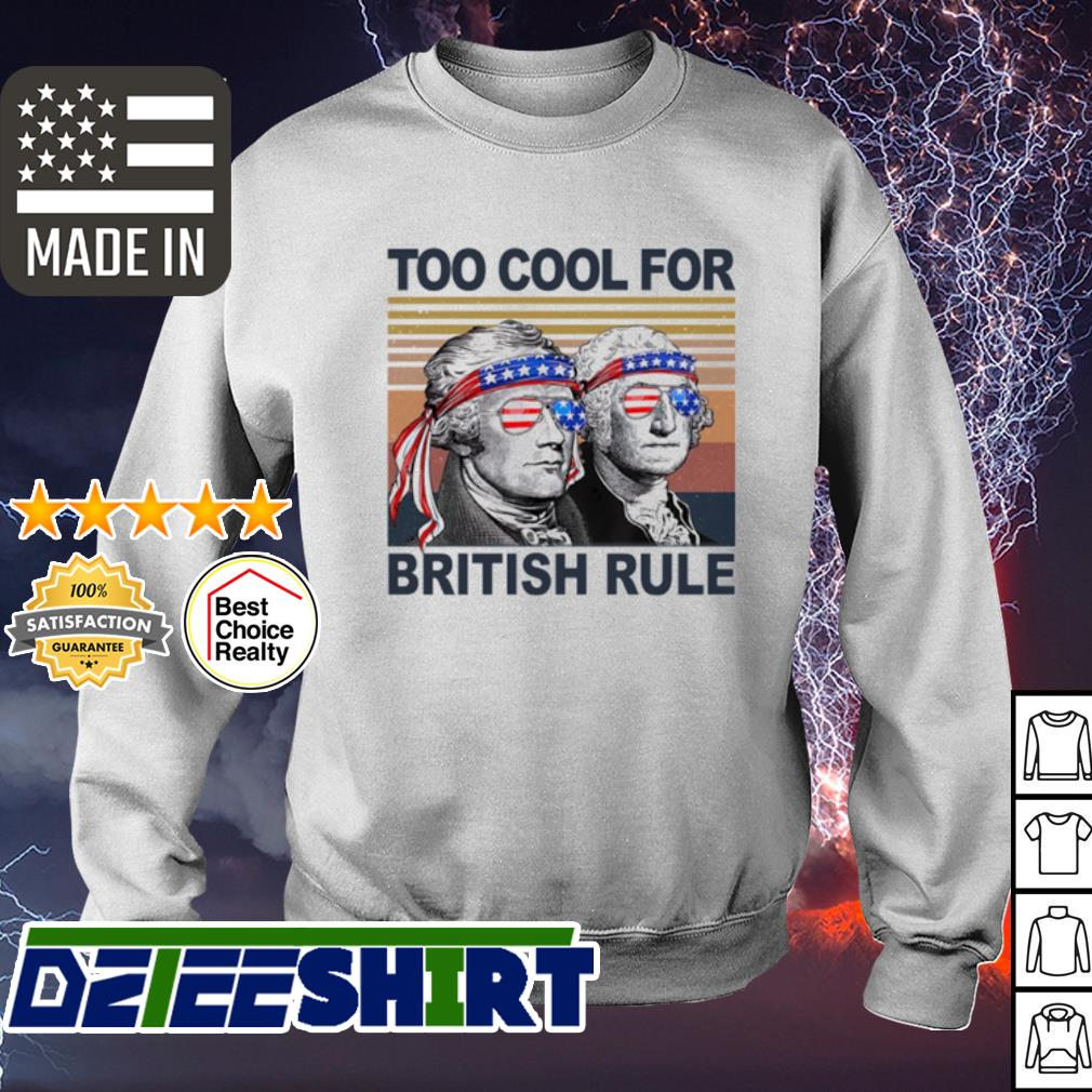 Vintage Alexander Hamilton and George Washington too cool for British rule s sweater