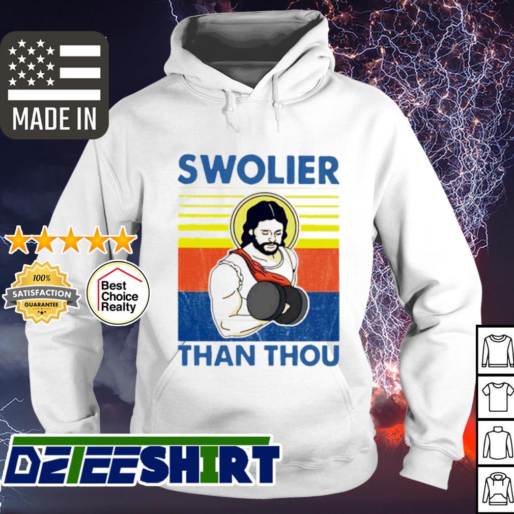 Vintage Jesus swolier than thou s hoodie