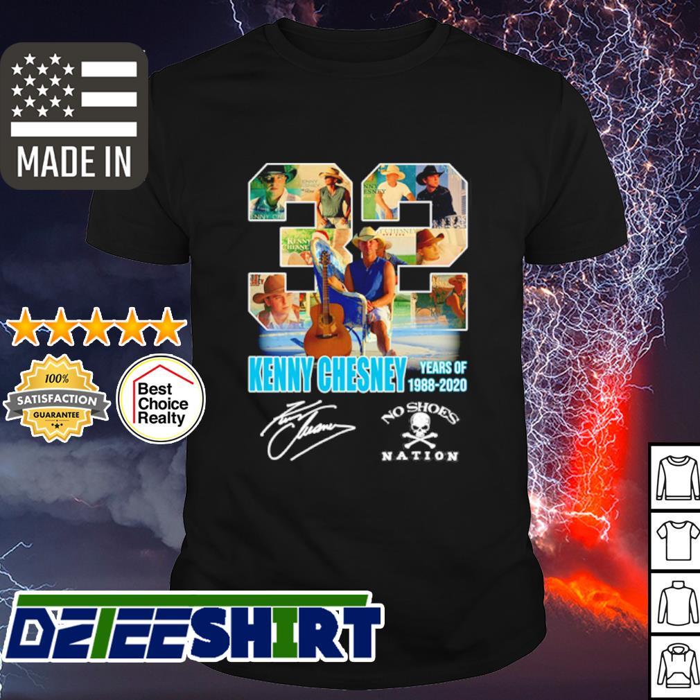 32 Kenny CHesney years of 1988 2020 signature shirt