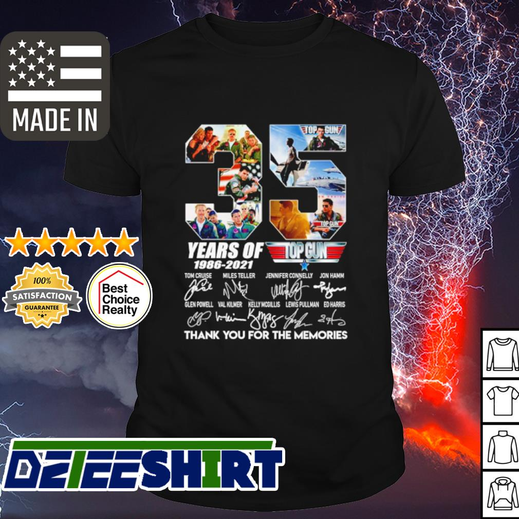 35 years of Top Gun 1986 2021 thank you for the memories shirt