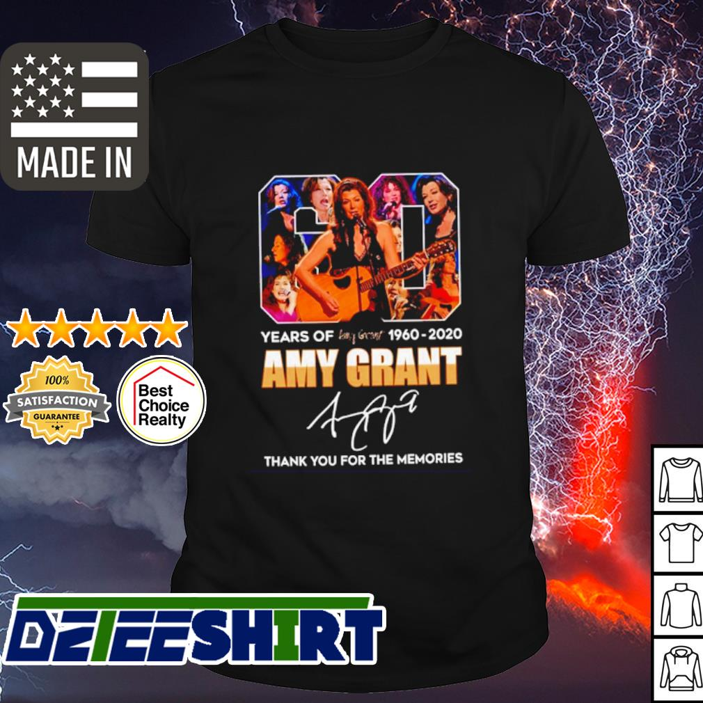 60 years of Amy Grant 1960 2020 signature thank you for the memories shirt