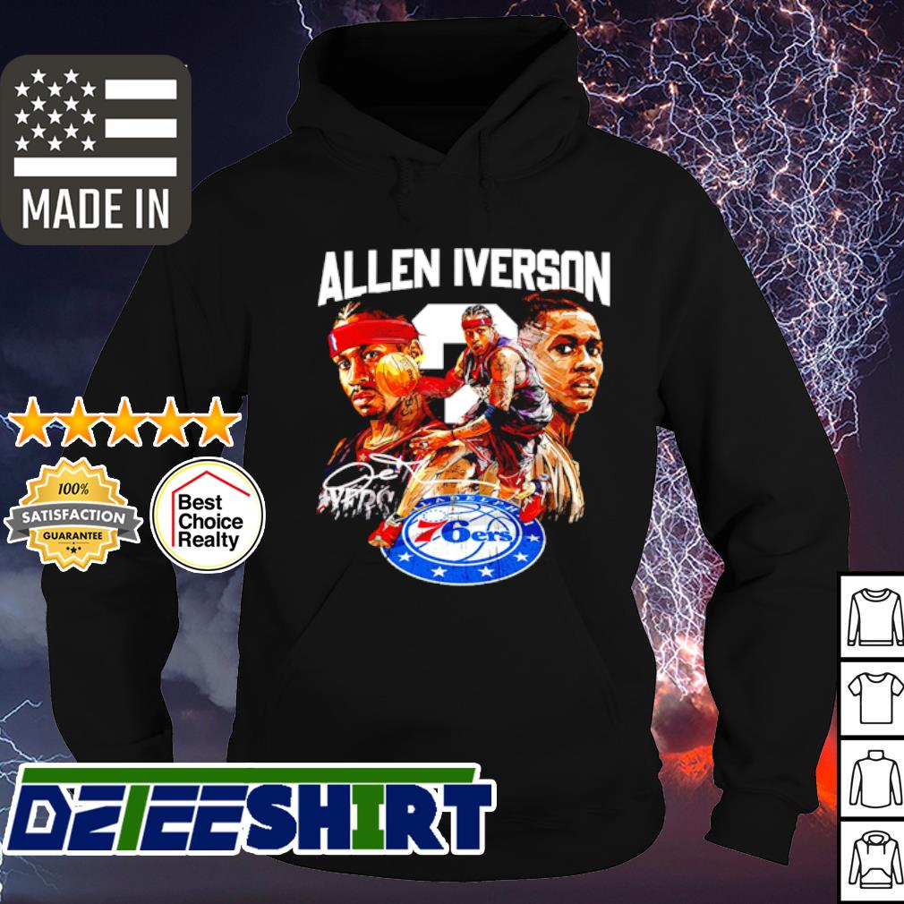 Allen Iverson 76ers signature s hoodie