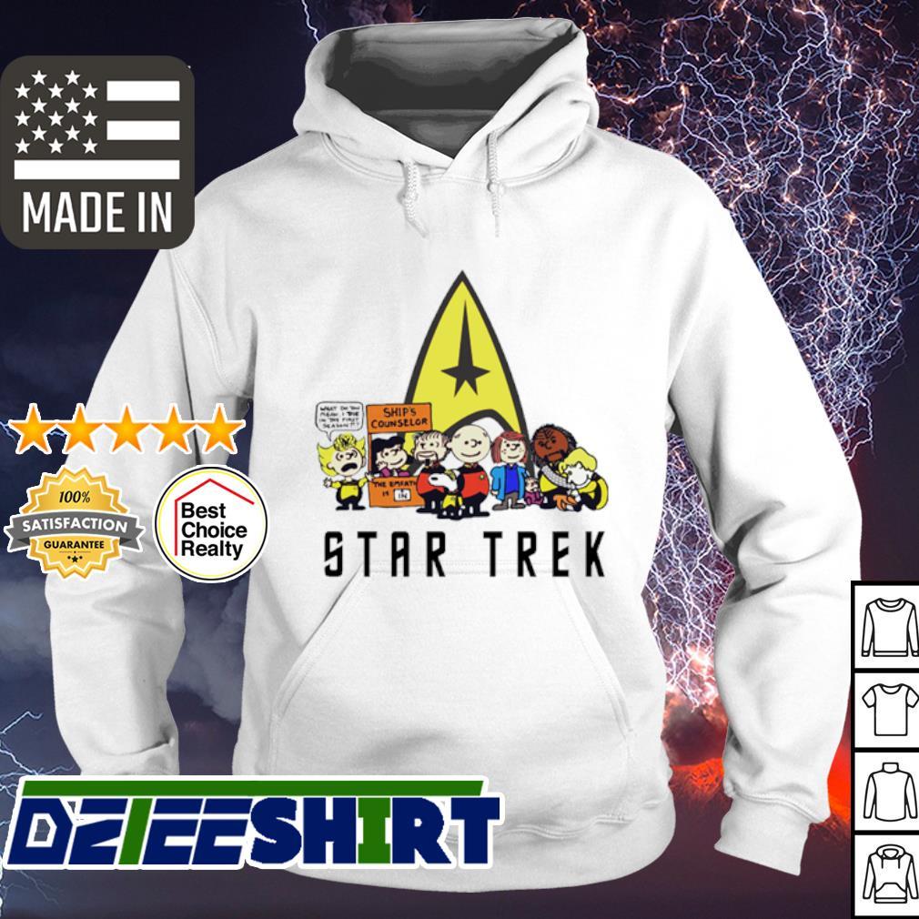 Charlie Brown Snoopy Star Trek s hoodie