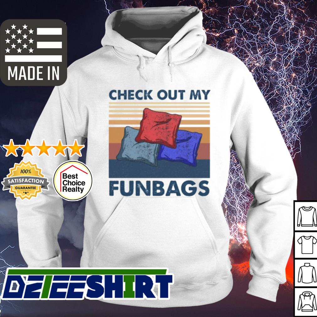 Cornhole check out my funbags vintage s hoodie