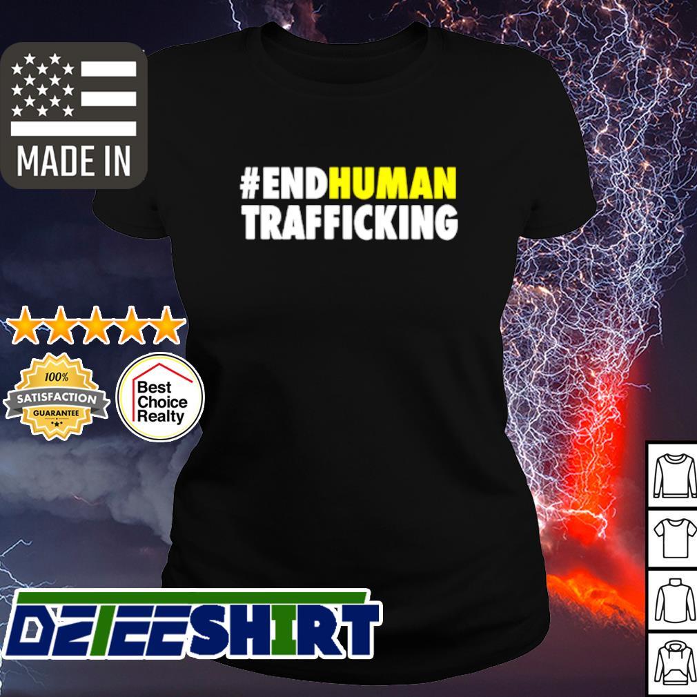 #endhuman End Human Trafficking s ladies tee