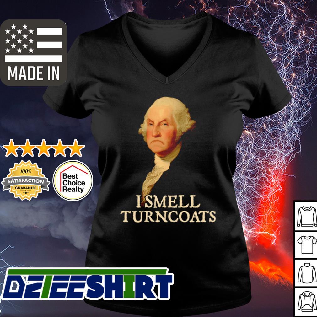 George Washington I smell turncoats s v-neck t-shirt