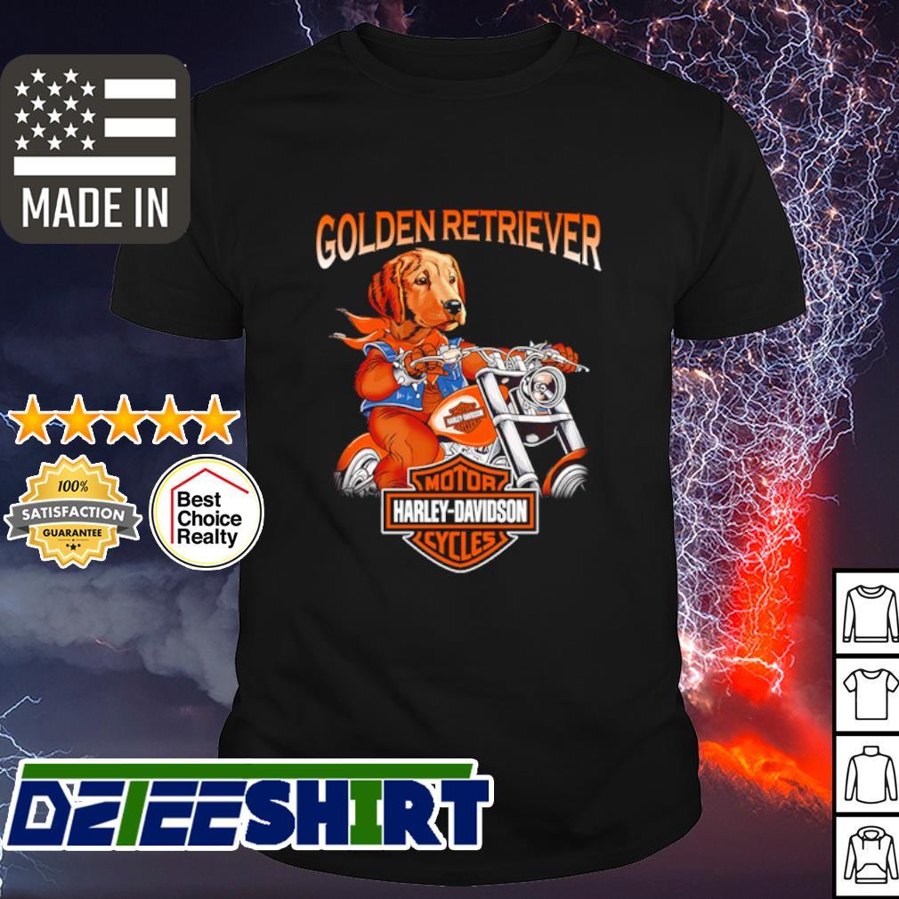 Golden Retriever Harley-Davidson shirt