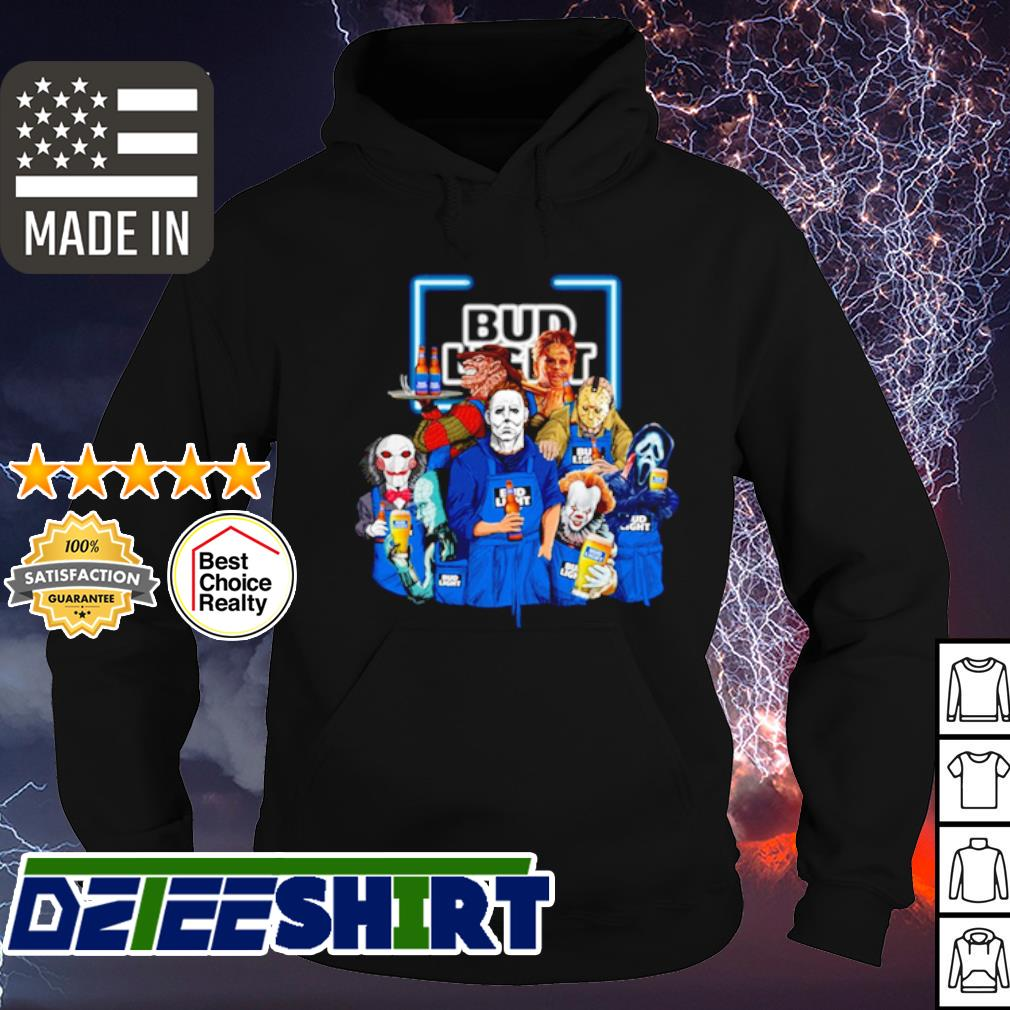 Horror character movie drink Bud Light s hoodie