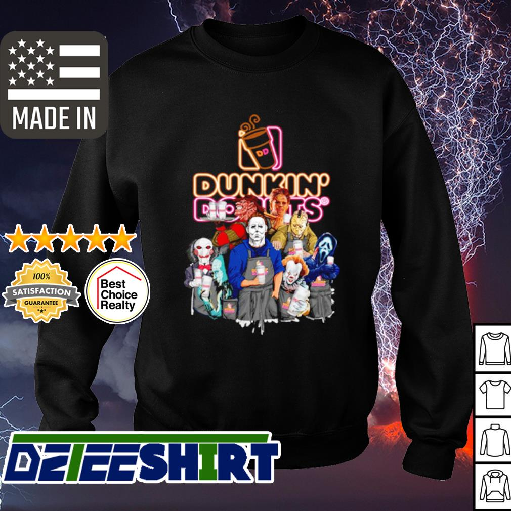 Horror character movie drink Dunkin' Donuts s sweater