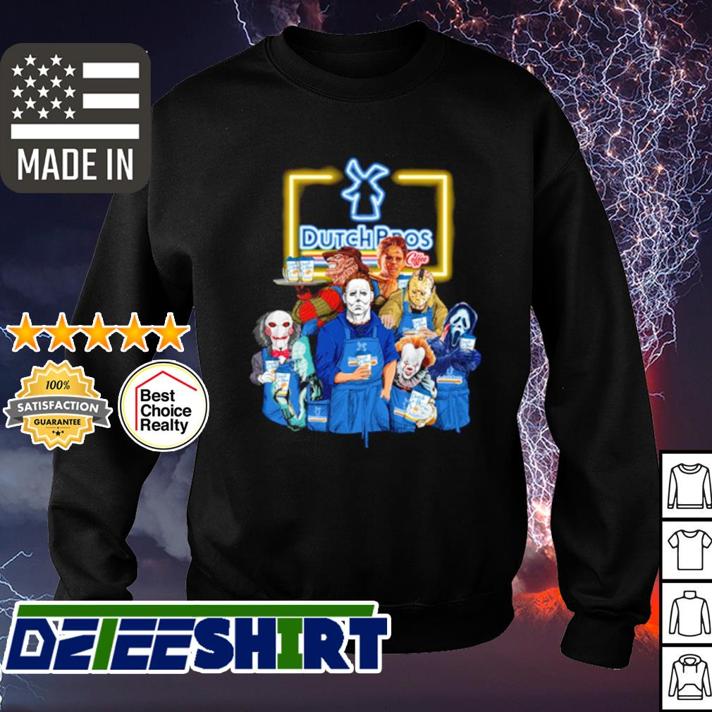 Horror character movie drink Dutch Bros s sweater