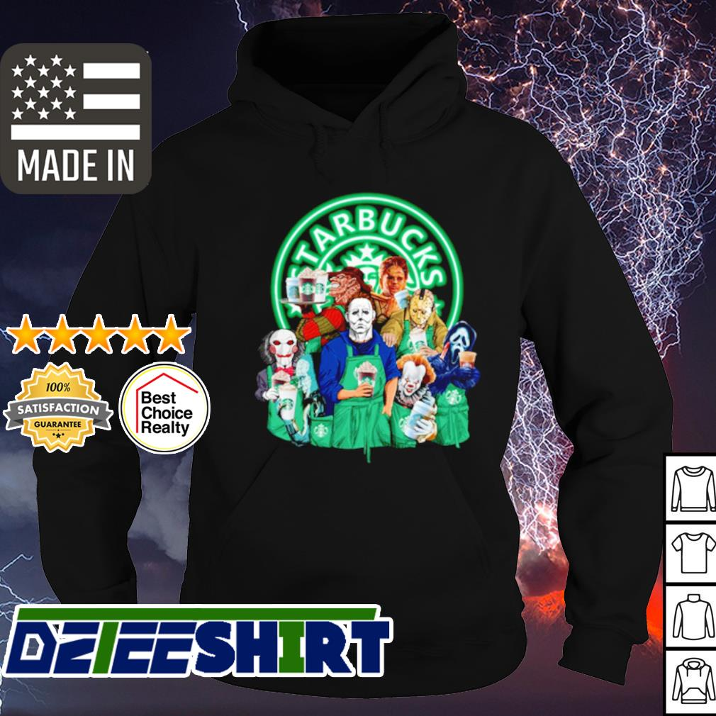 Horror character movie drink Starbucks coffee s hoodie