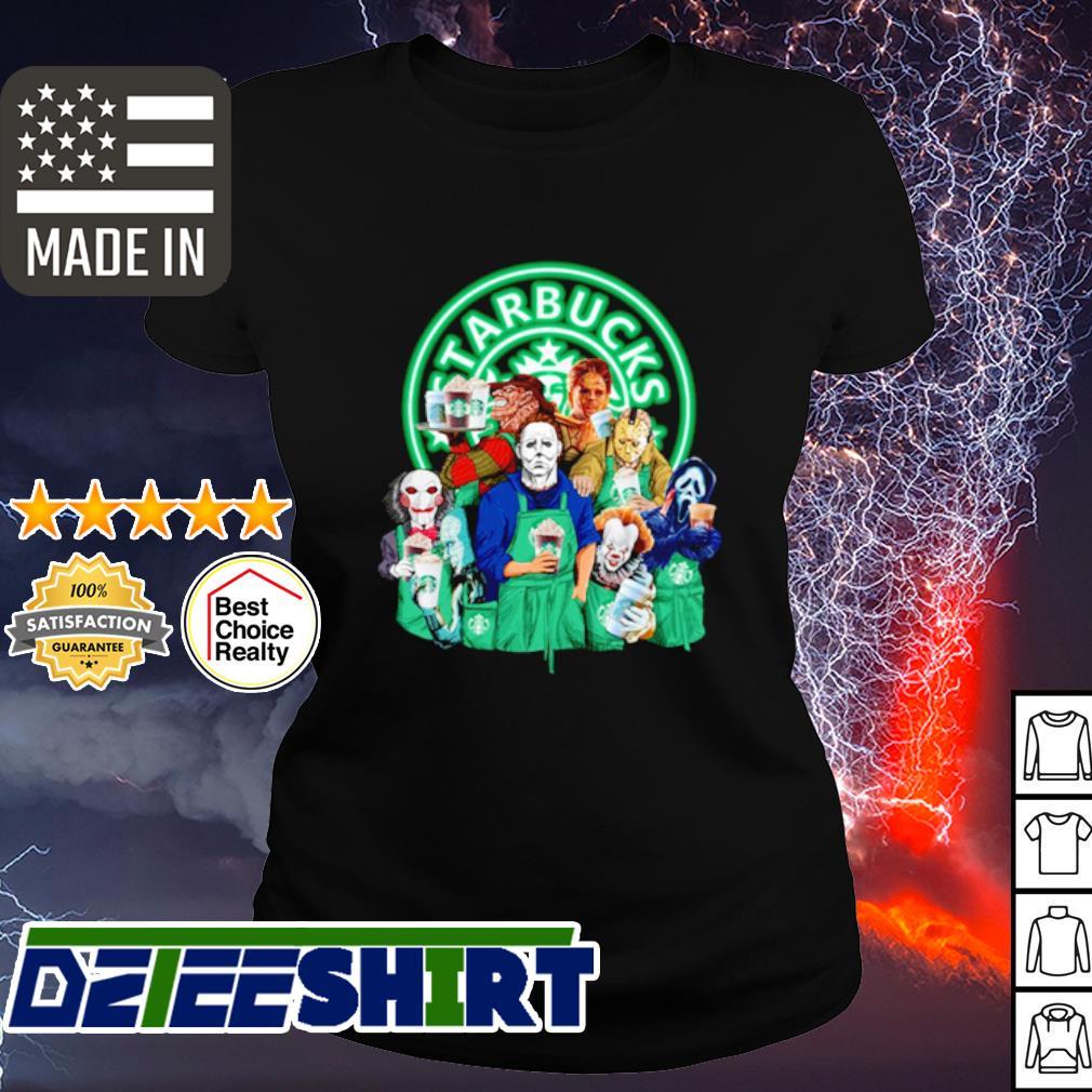 Horror character movie drink Starbucks coffee s ladies tee