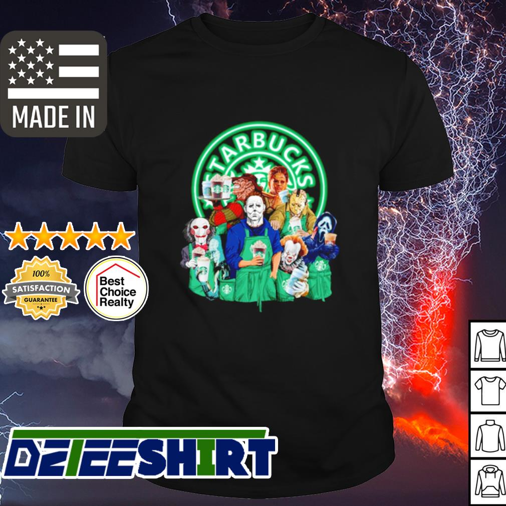Horror character movie drink Starbucks coffee shirt