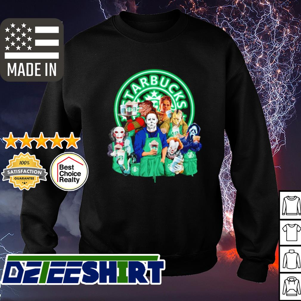 Horror character movie drink Starbucks coffee s sweater