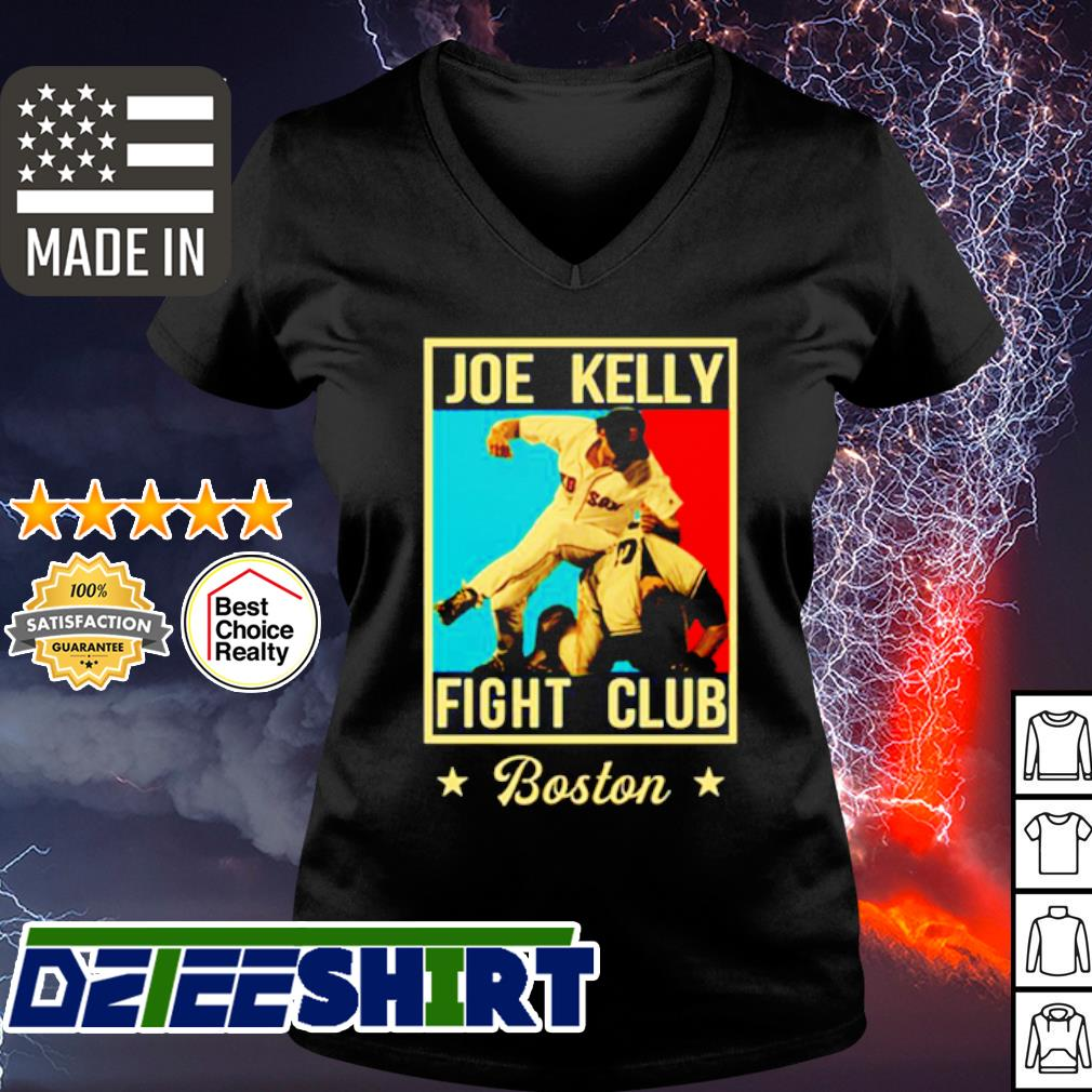 Joe Kelly fight club Boston s v-neck t-shirt