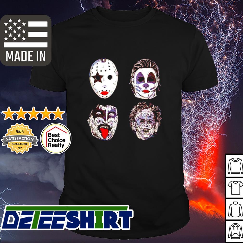 Kiss of terror Horror movies characters shirt