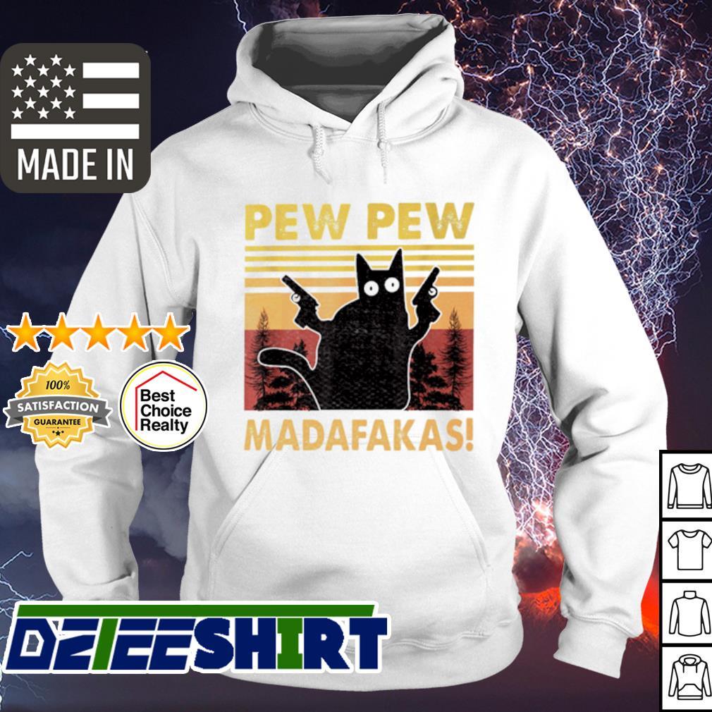Pew pew Madafakas Cat Crazy vintage s hoodie