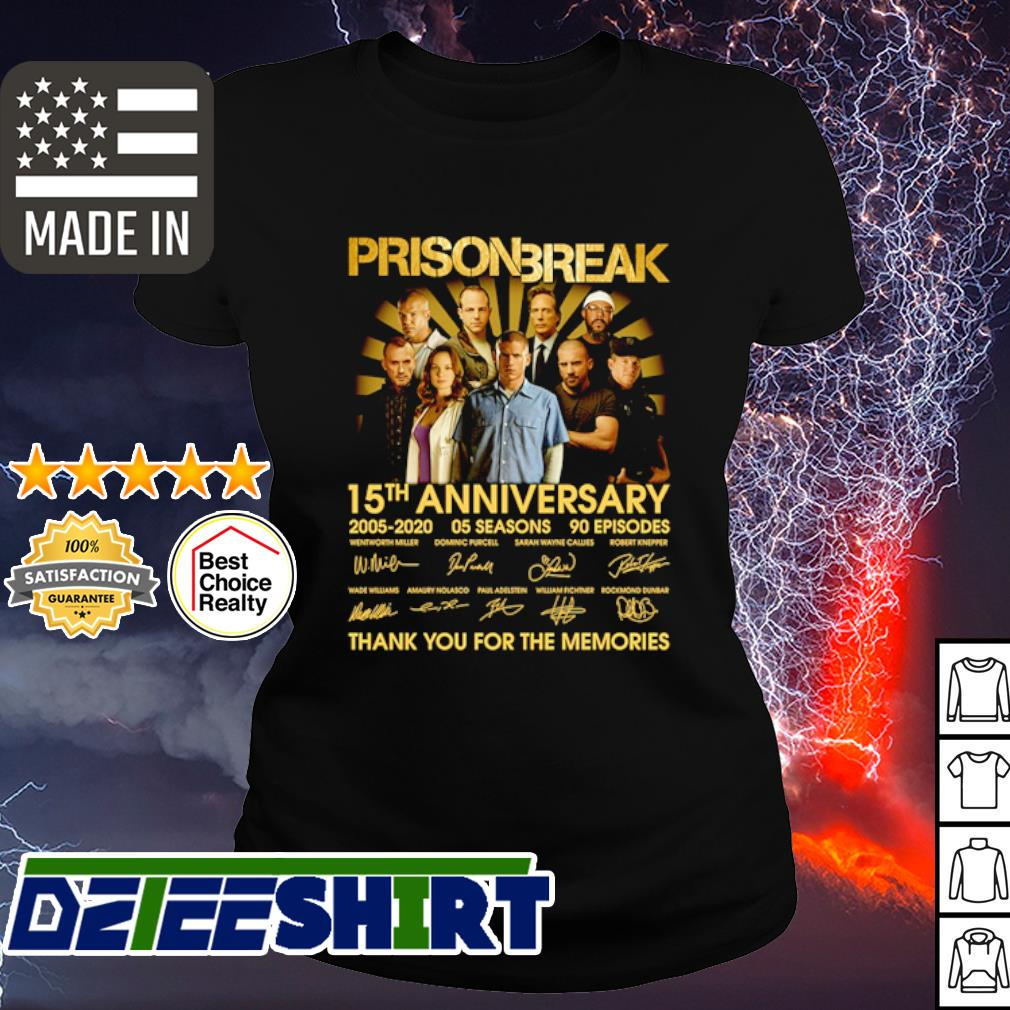 Prison Break 15th anniversary 2005 2020 thank you for the memories s ladies tee