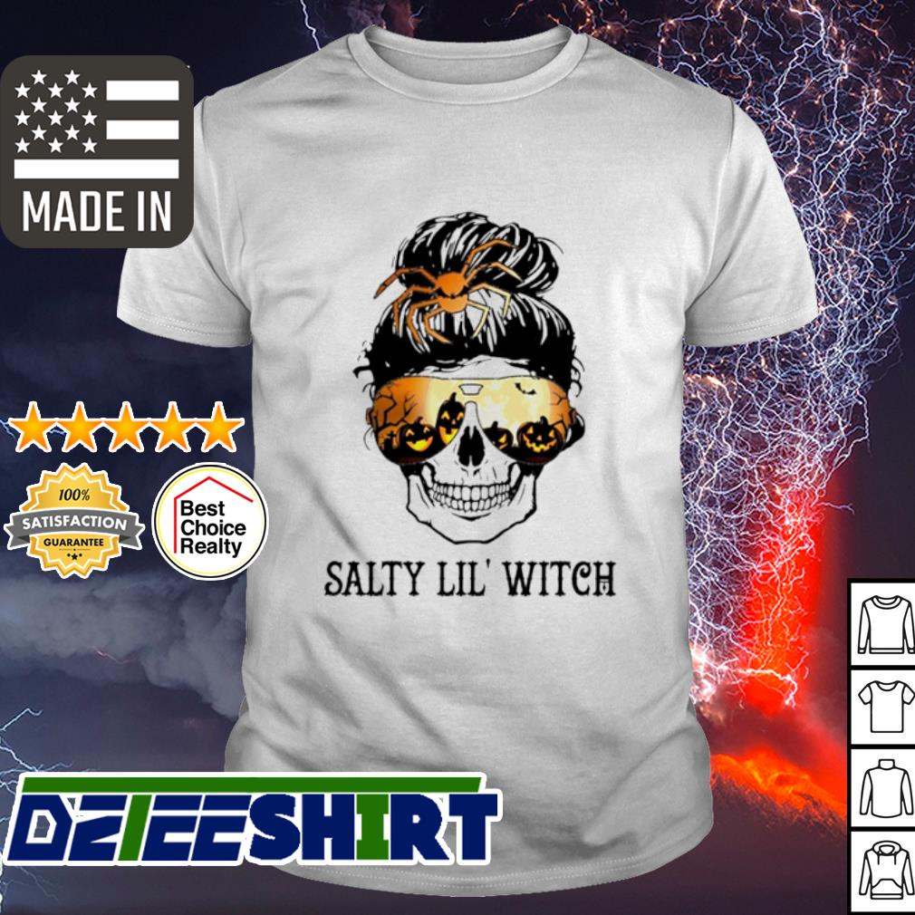 Skull Salty lil' witch Halloween shirt