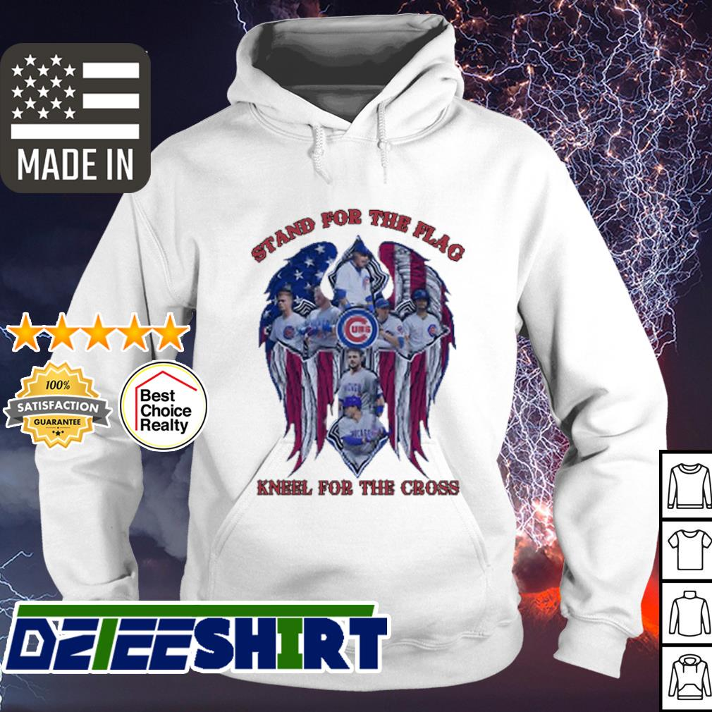 Stand For The Flag Kneel For The Cross Chicago Cubs Angel Wings s hoodie
