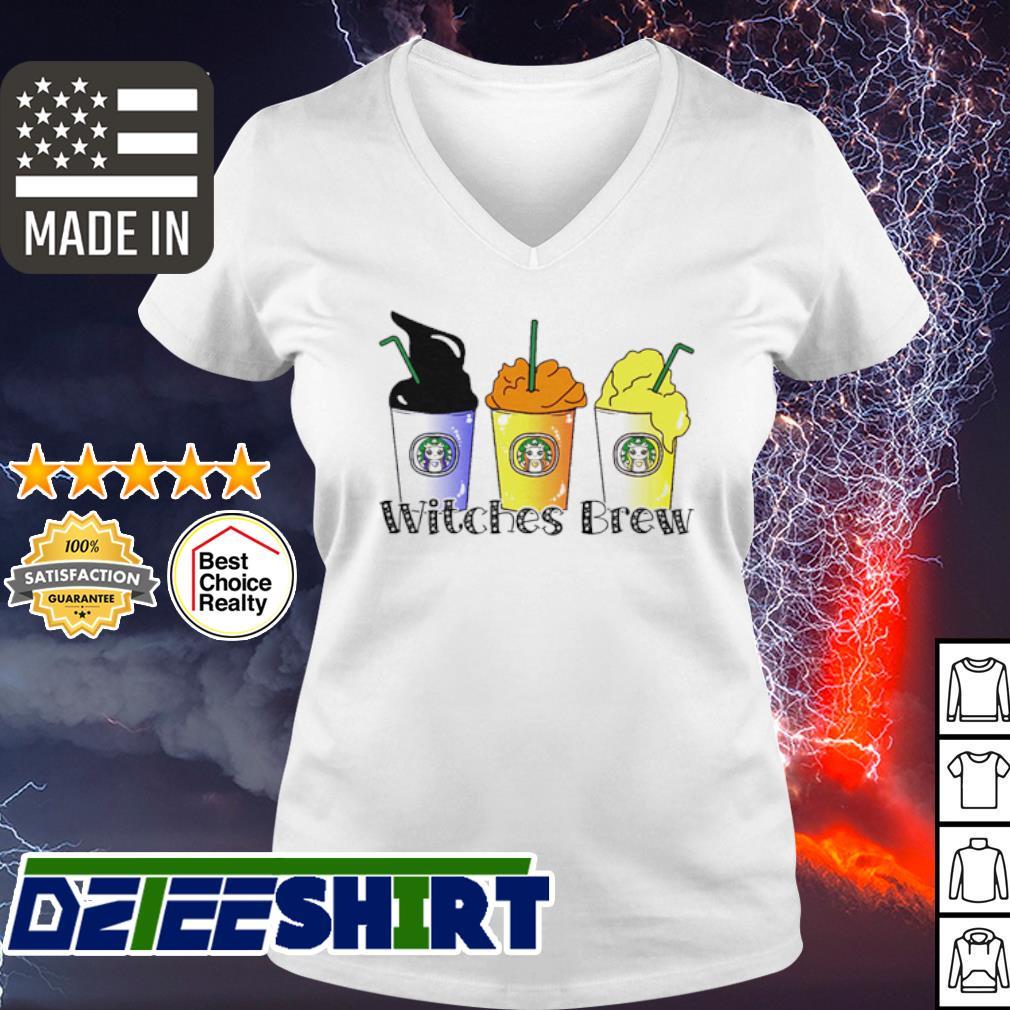 Starbucks Witches Brew Hocus Pocus s v-neck t-shirt