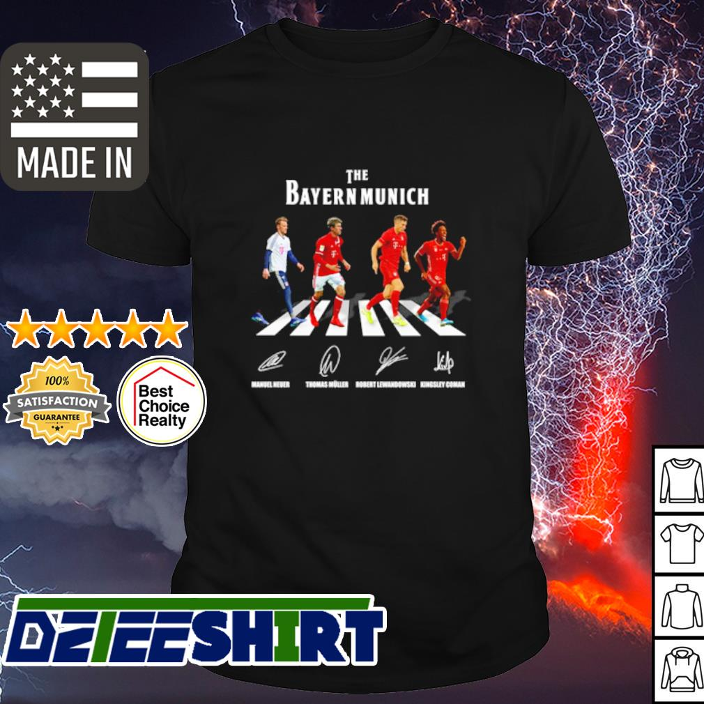 The Bayern Munich Abbey Road signature shirt
