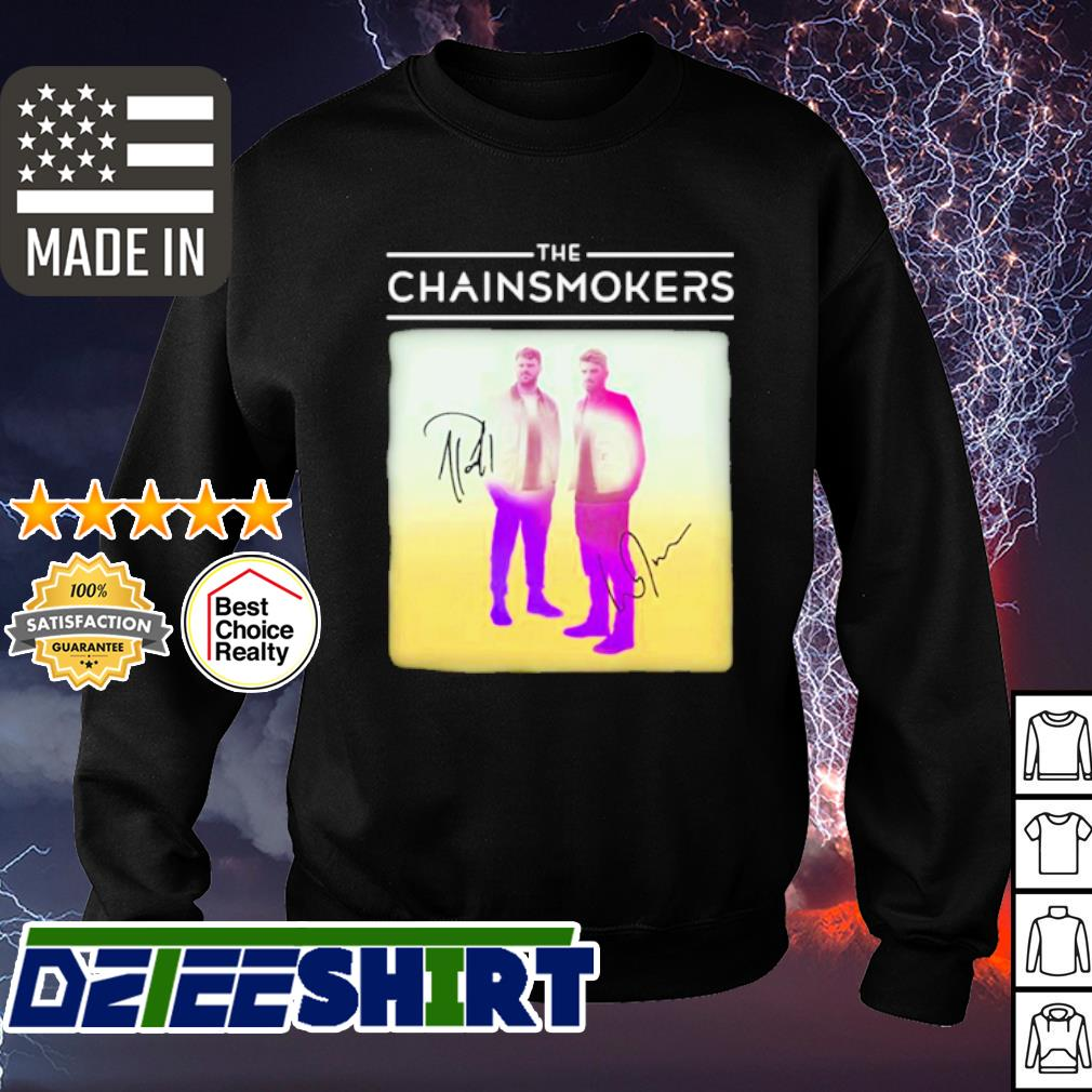 The chainsmokers members signatures s sweater