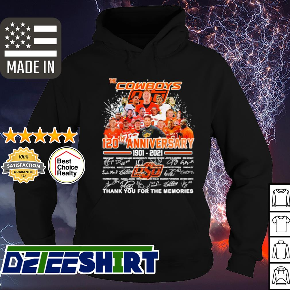 The Cowboys 120th anniversary 1201 2021 signatures s hoodie