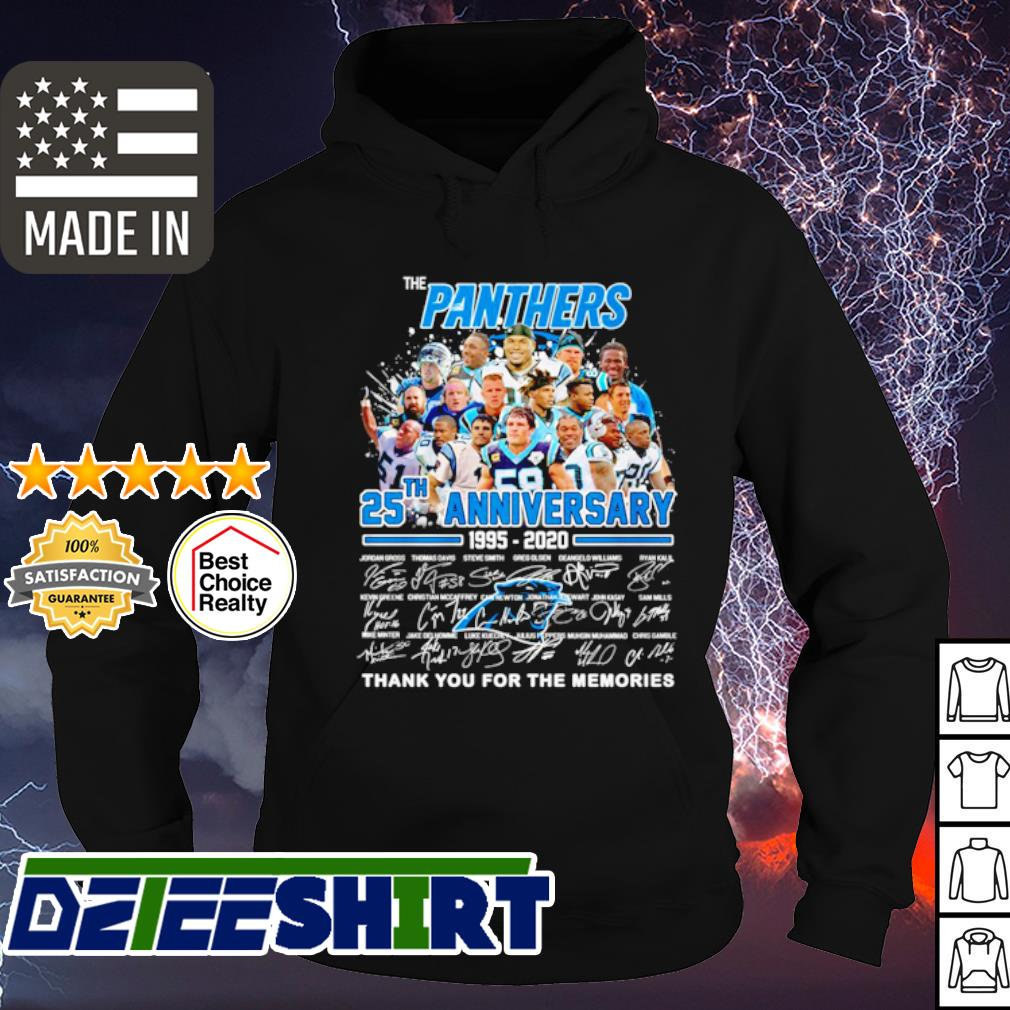 The Panthers 25th anniversary 1995 2020 thank you for the memories s hoodie