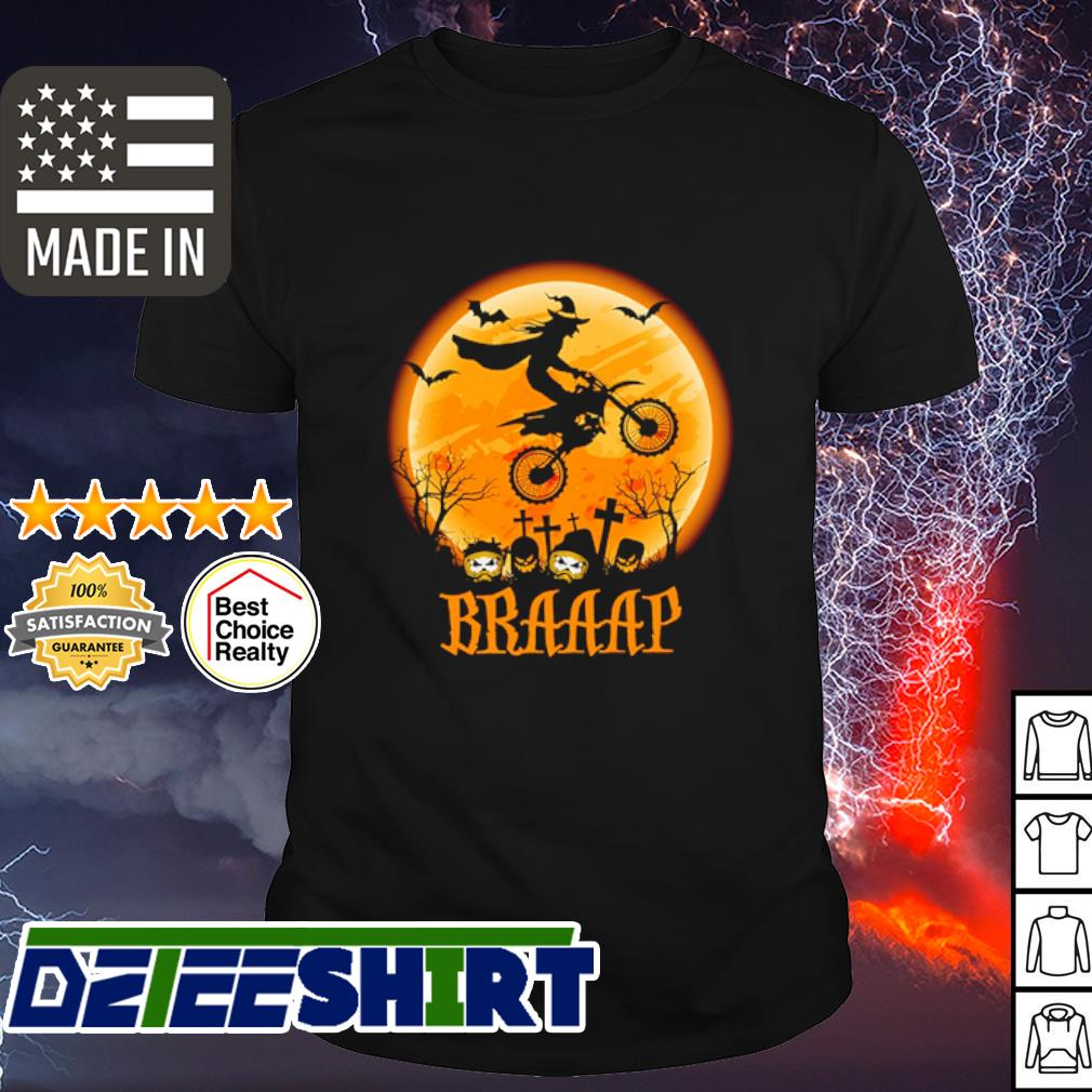 Witch Braap Motocross Halloween shirt