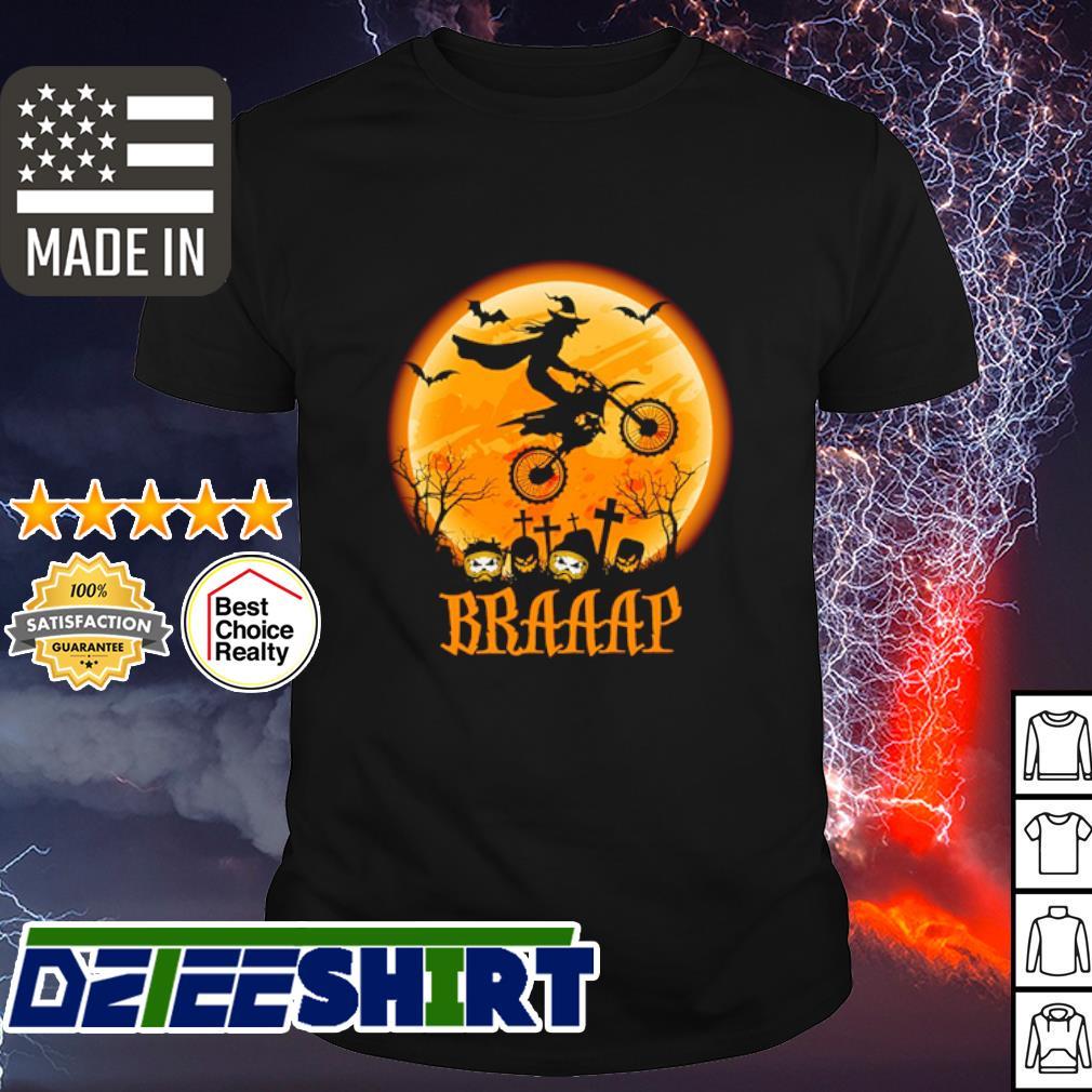 Witch Braap Motocross Halloween shirt