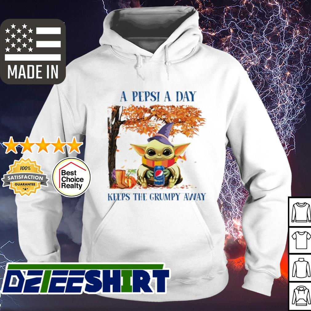 Baby Yoda A Pepsi a day keeps the grumpy away Halloween s hoodie
