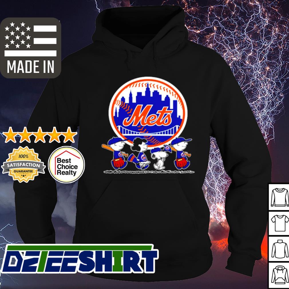 Charlie Brown and Snoopy Baseball New York Mets s hoodie