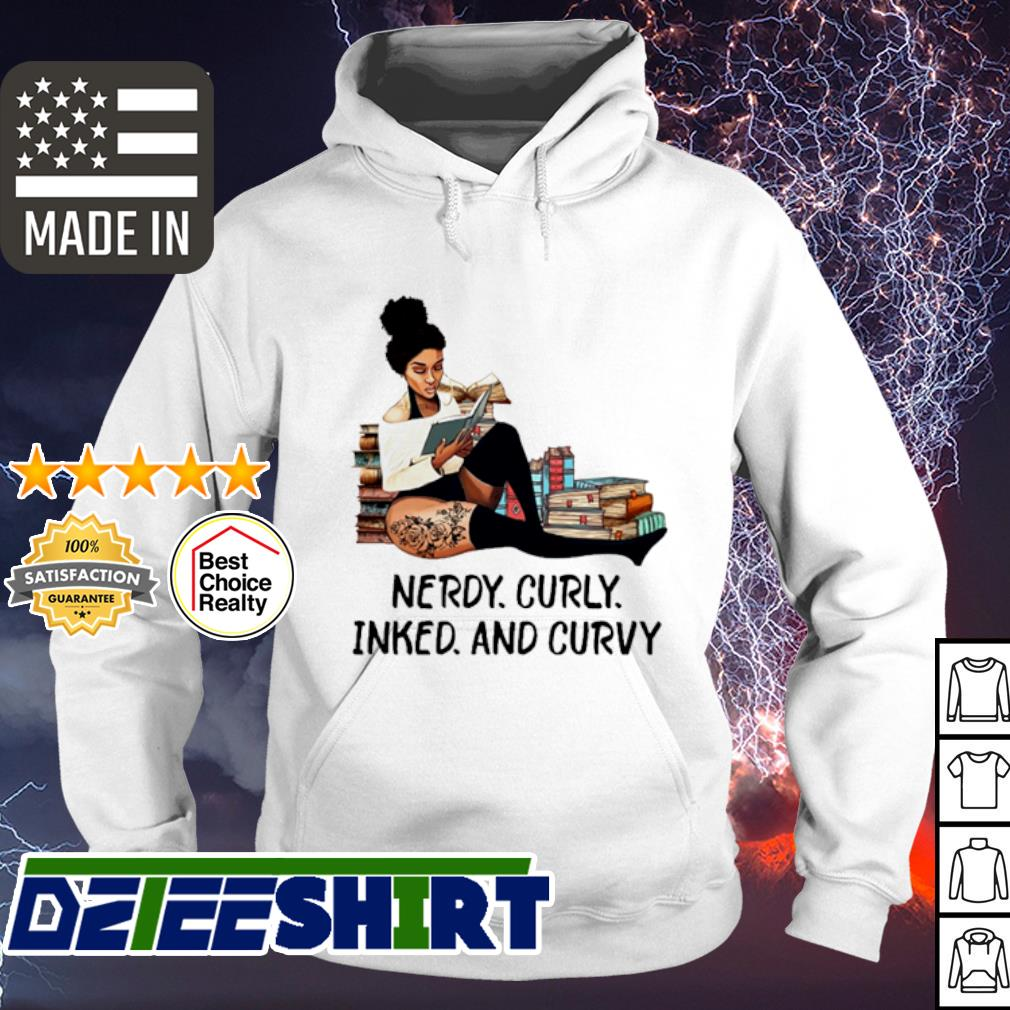 Girl tattoos reading books Nerdy curvy inked and curvy s hoodie