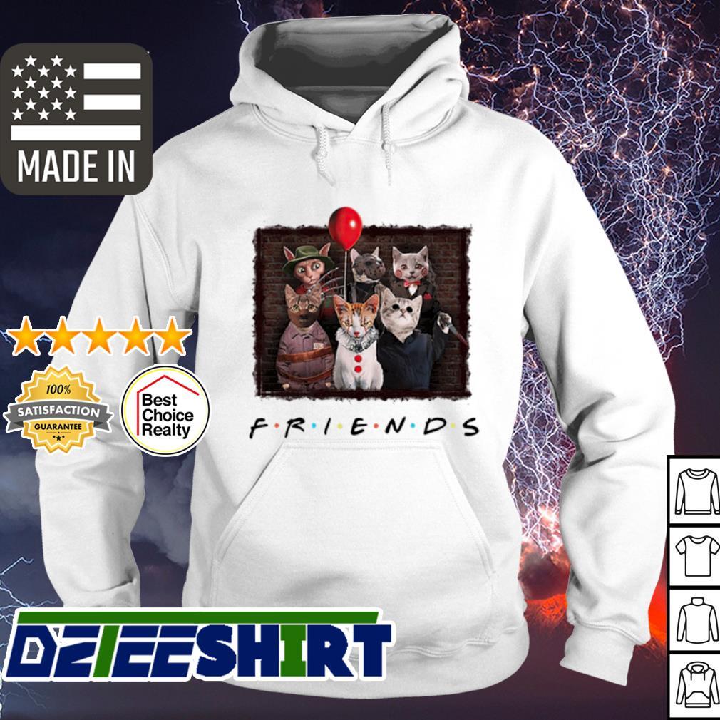 Halloween Cat In Horror Movie Character Friends TV Show s hoodie