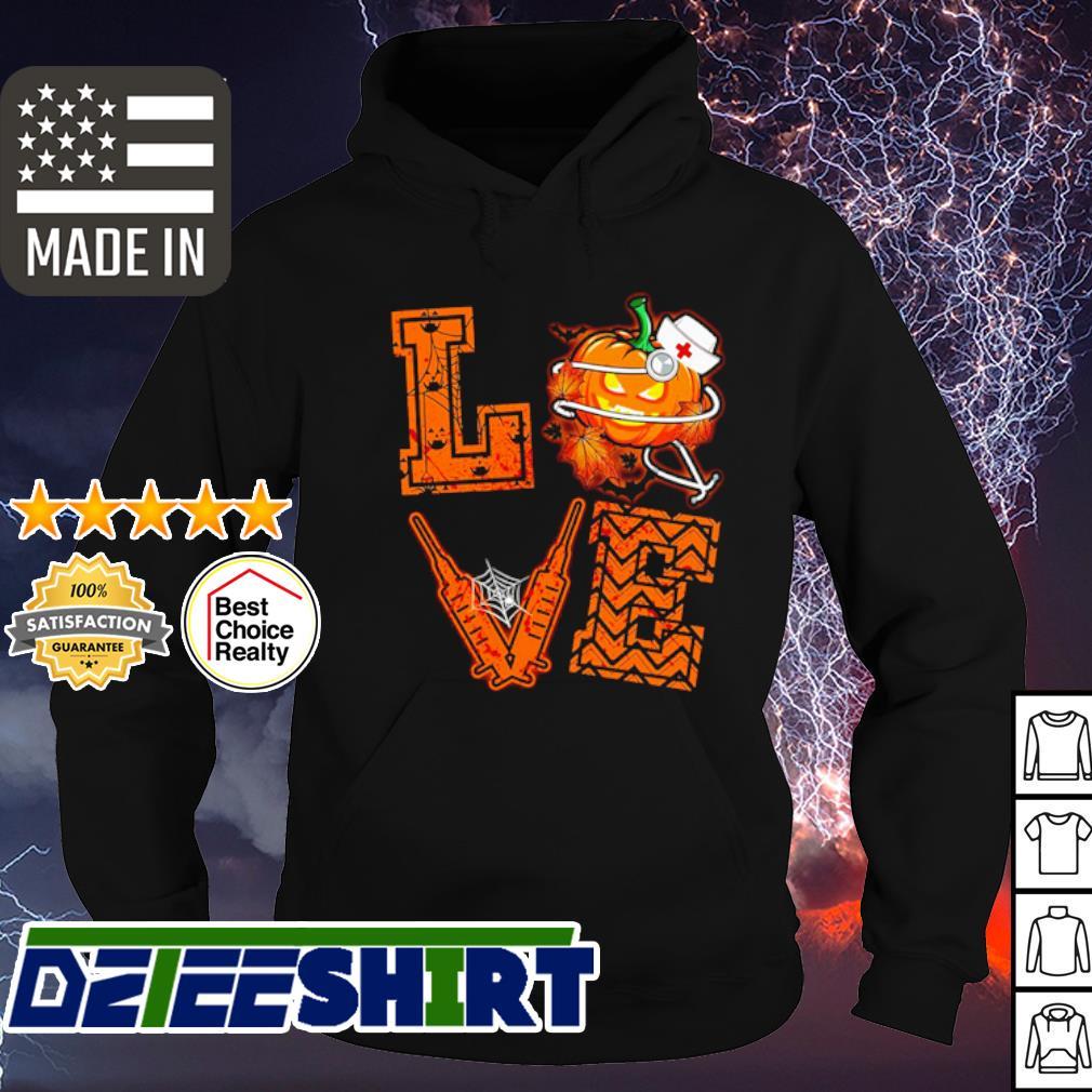 Halloween Love Nurse Pumpkin s hoodie