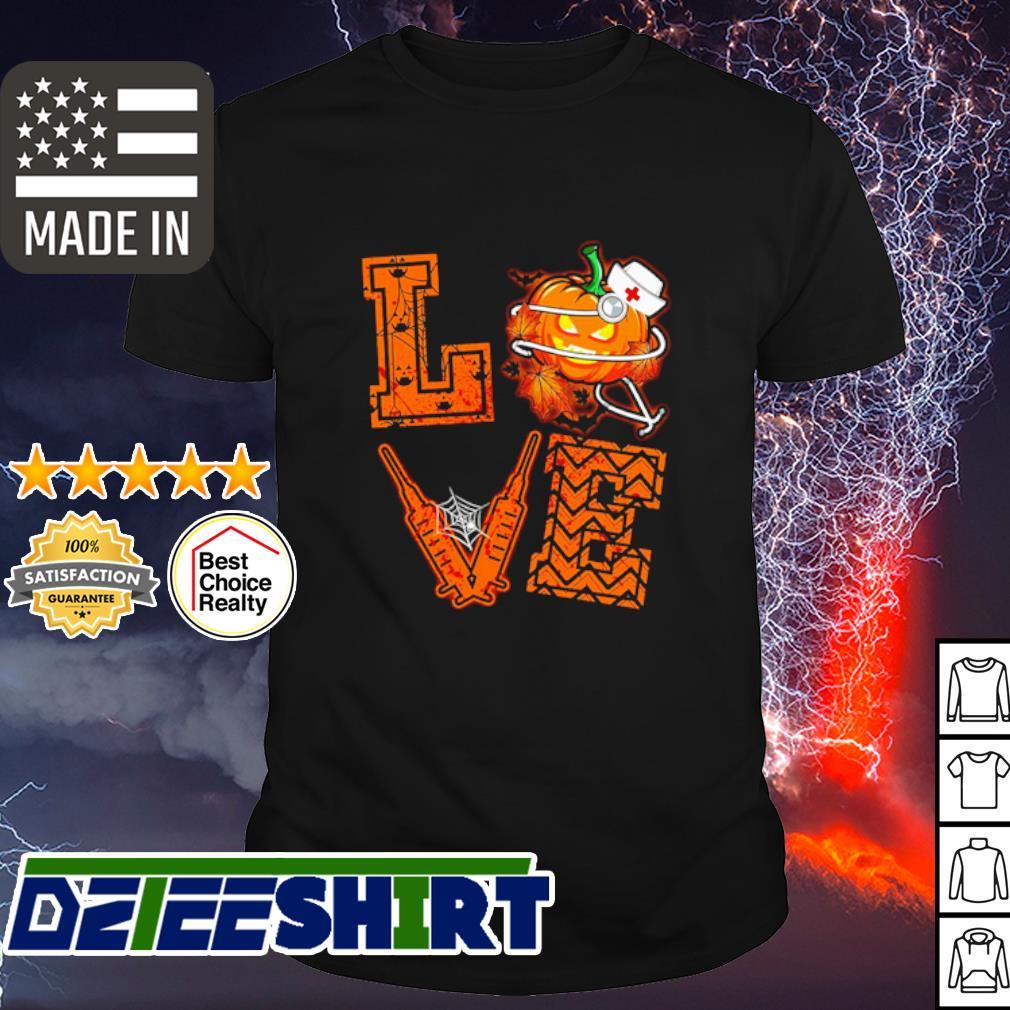 Halloween Love Nurse Pumpkin shirt