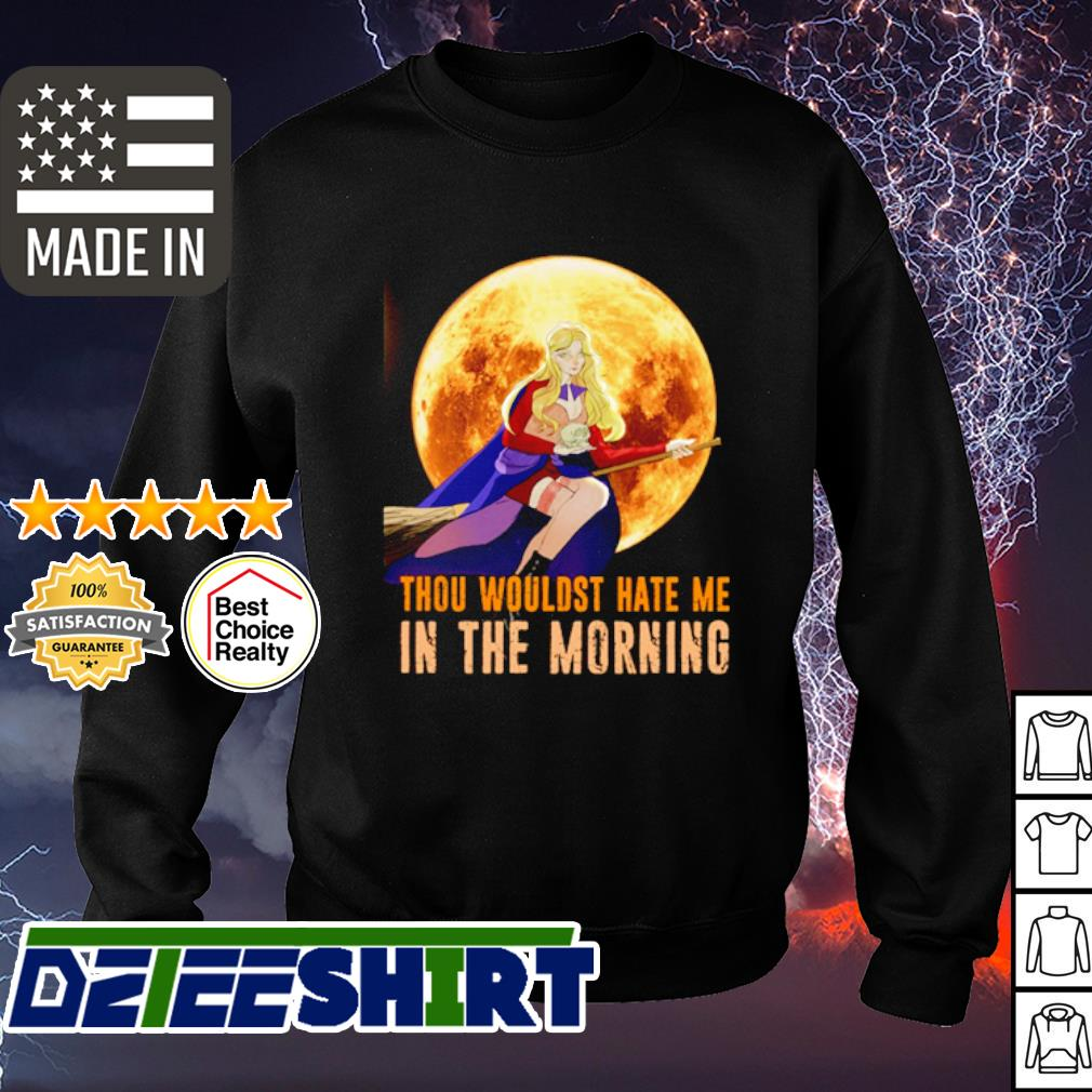 Halloween Thou wouldst hate me in the morning Moon s sweater