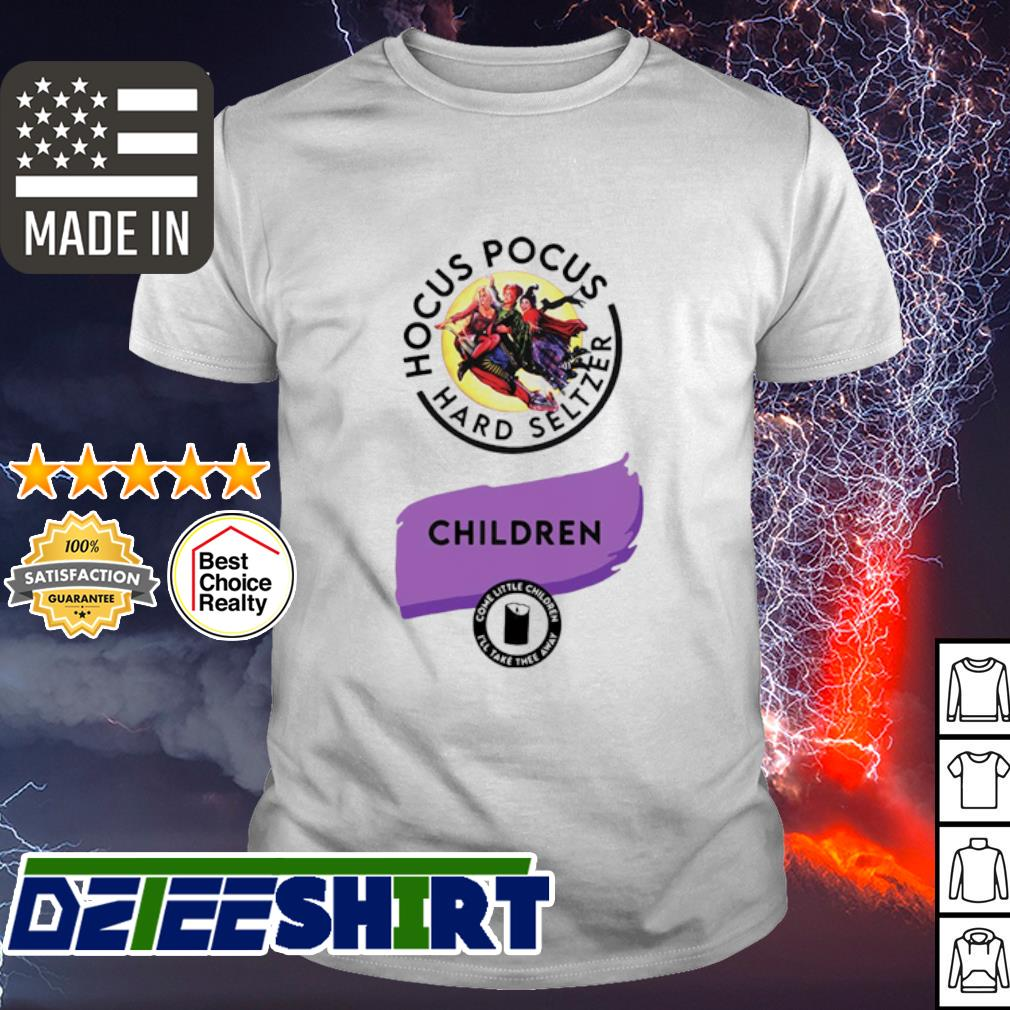 Hocus Pocus hard seltzer children Halloween shirt