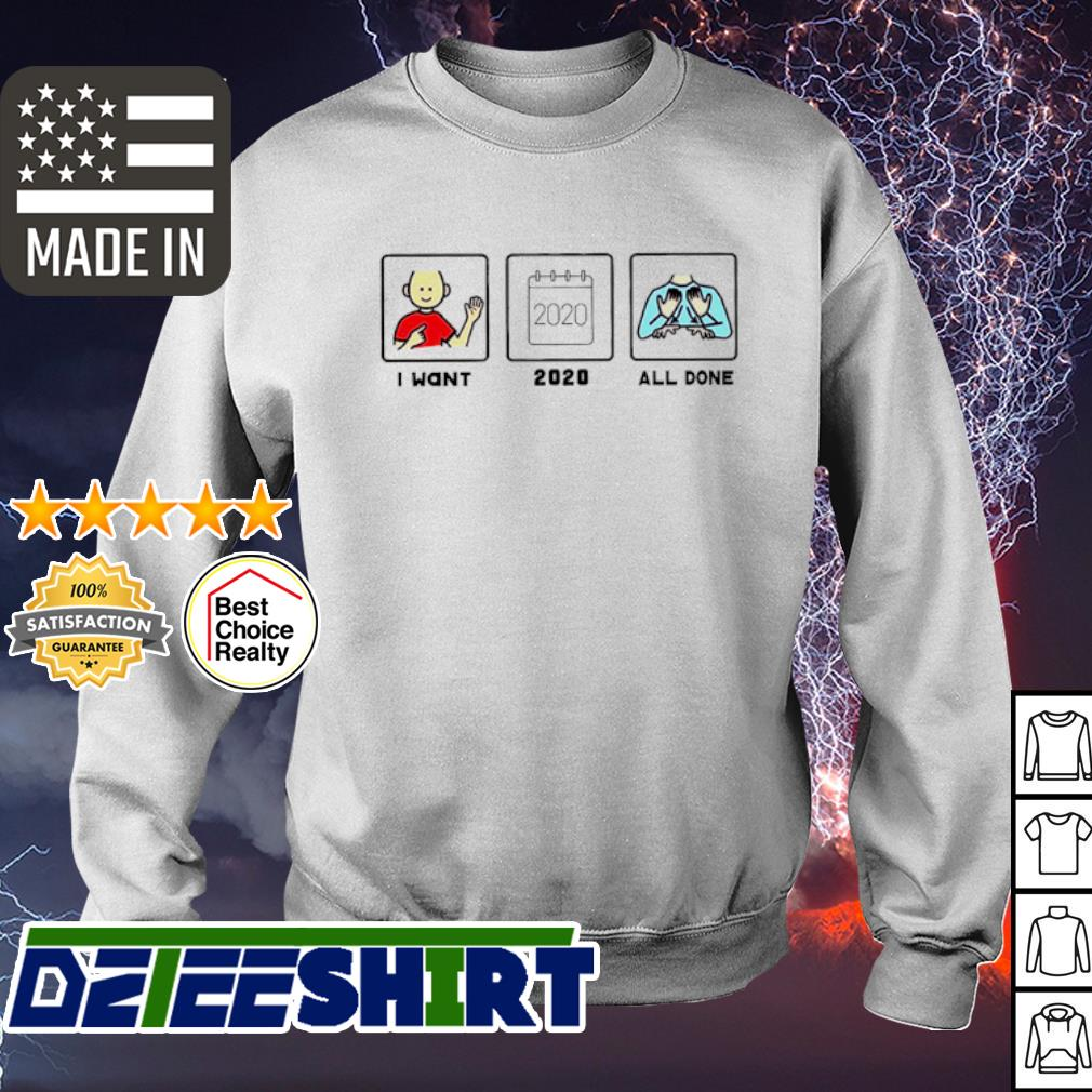 I want 2020 all done s sweater