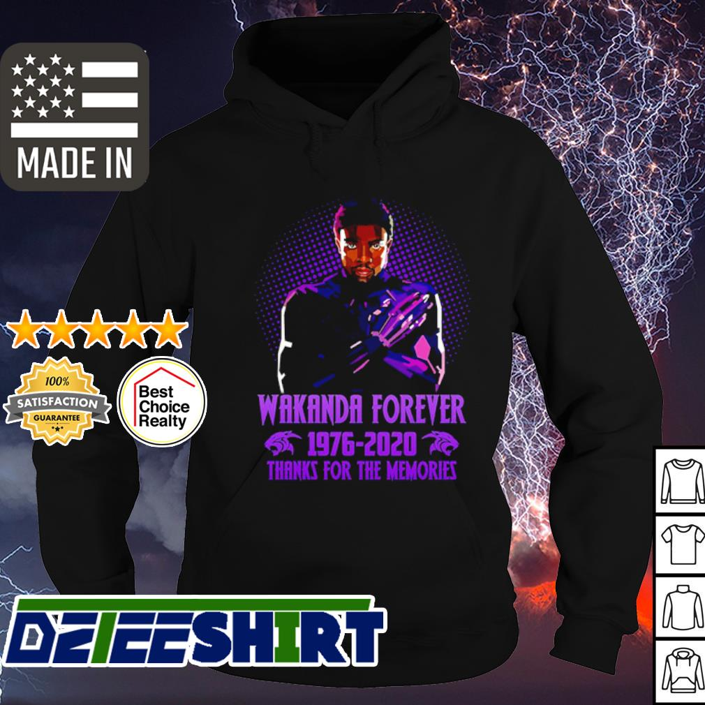 Marvel Wakanda forever Chadwick boseman 1976-2020 thanks for the memories s hoodie
