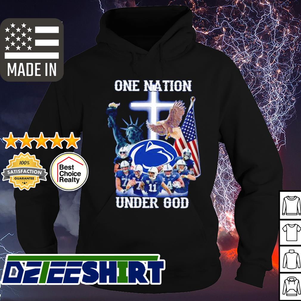 Penn State Nittany Lions One nation under god American Flag s hoodie