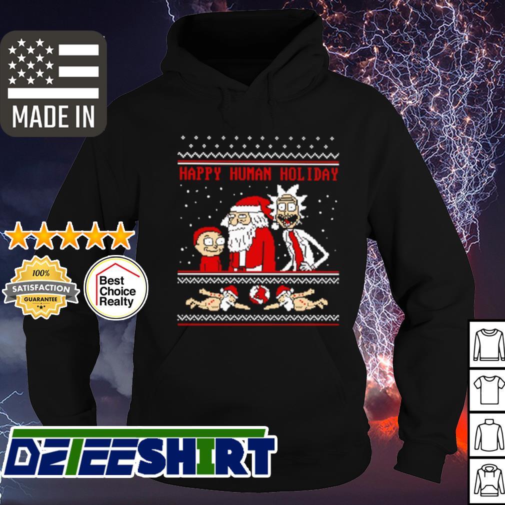 Rick And Morty happy human holiday ugly Christmas s hoodie