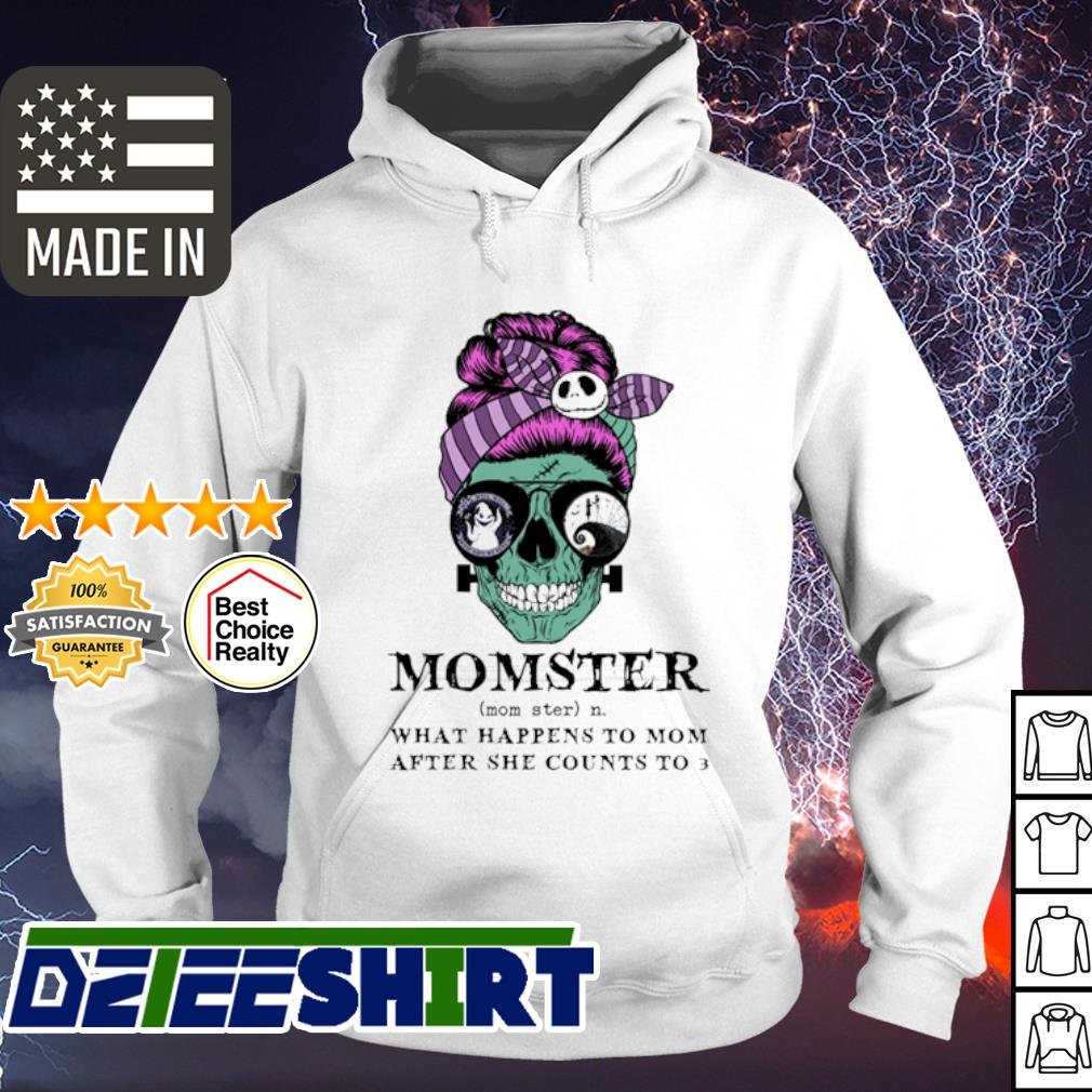 Skull Jack Skenllington momster what happens to mom after she counts to 3 halloween s hoodie