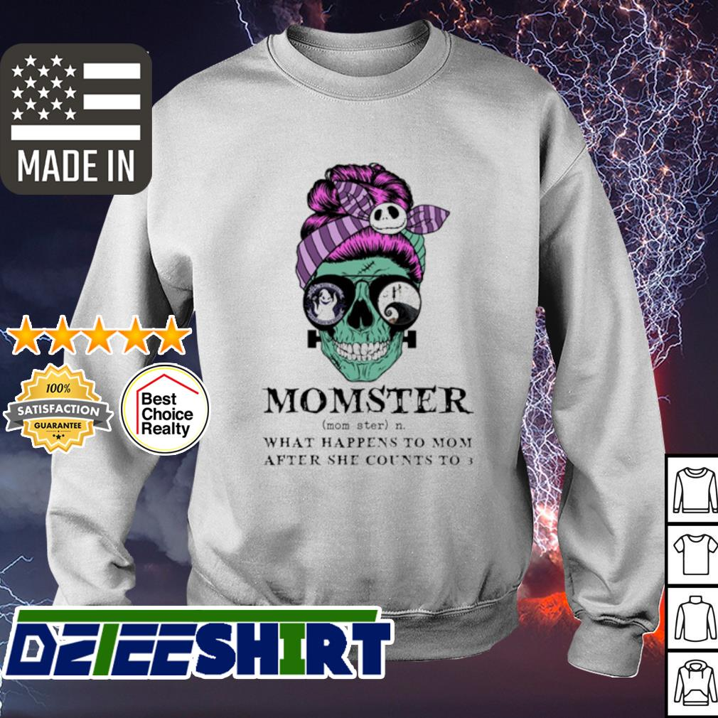 Skull Jack Skenllington momster what happens to mom after she counts to 3 halloween s sweater