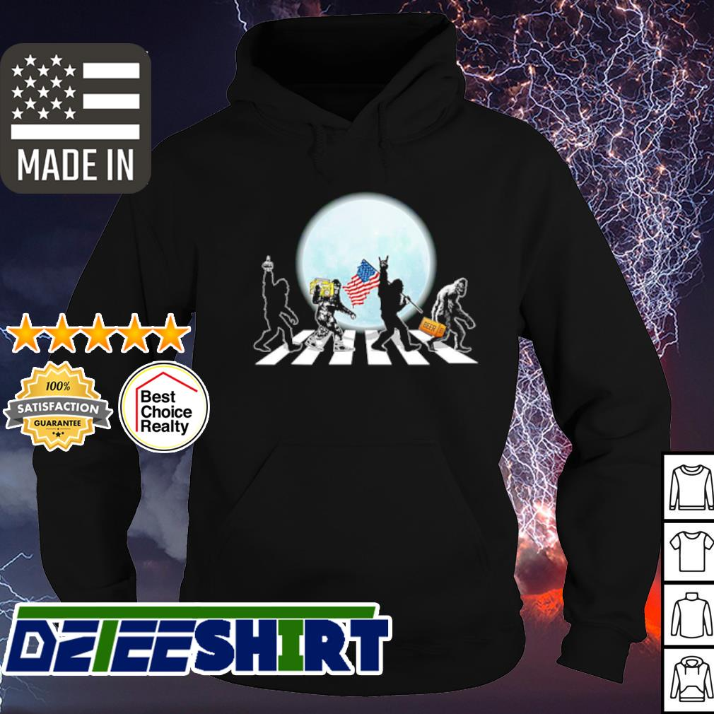 The Bigfoot Abbey Road Flag American Shirt hoodie