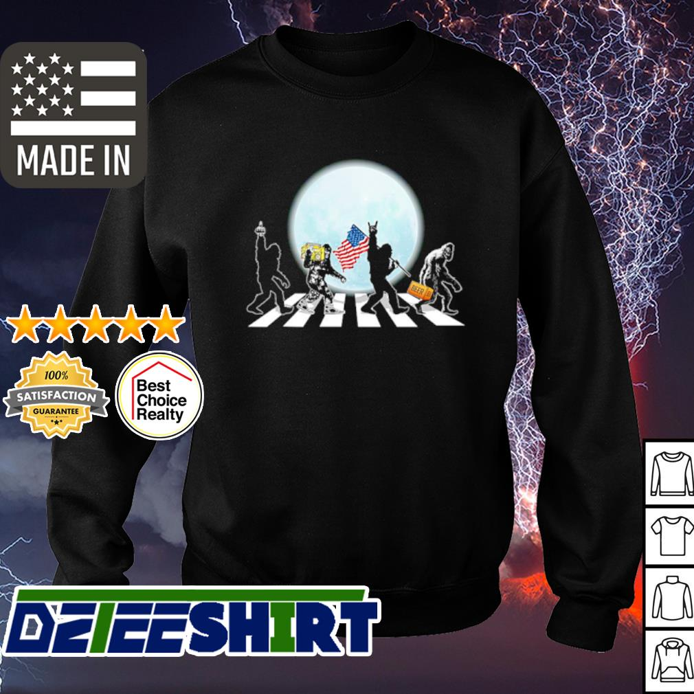The Bigfoot Abbey Road Flag American Shirt sweater