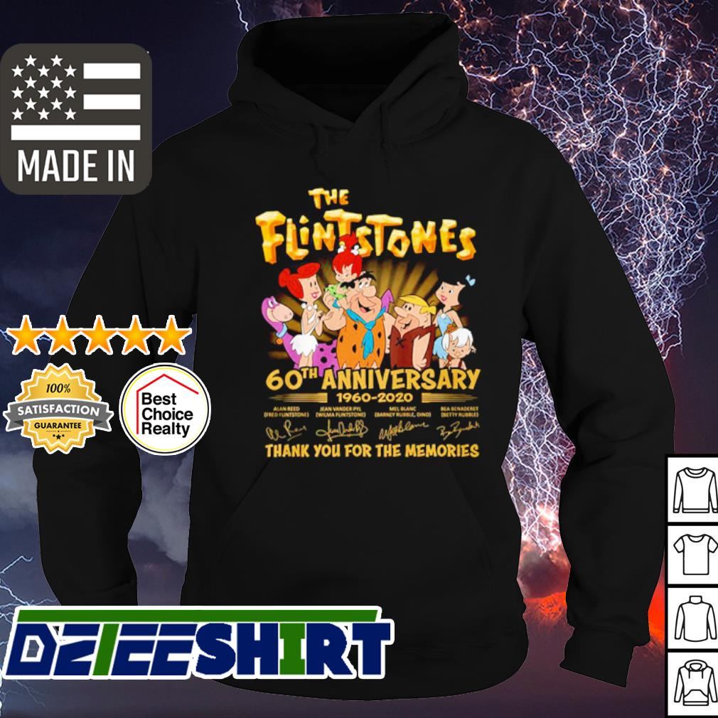The Flintstones 60th Anniversary 1960 2020 thank you for the memories s hoodie